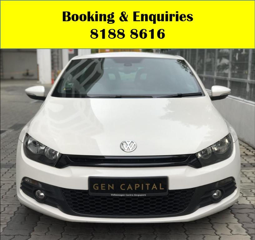 VW Scirocco SOCIAL DISTANCING?? TGIF JUST IN! Superb condition, Fuel efficient & Spacious! Rent a car now to travel with a peace of mind! Cheapest rental in town with just $500 Deposit driveoff immediately.  Whatsapp 8188 8616 now to enjoy special rates!
