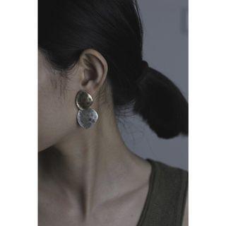 金銀片兩戴式耳環#支持