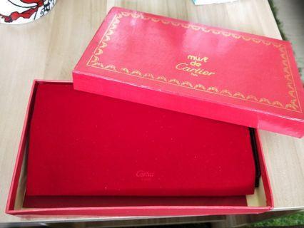 早期台製Cartier 真牛皮長夾。全新。
