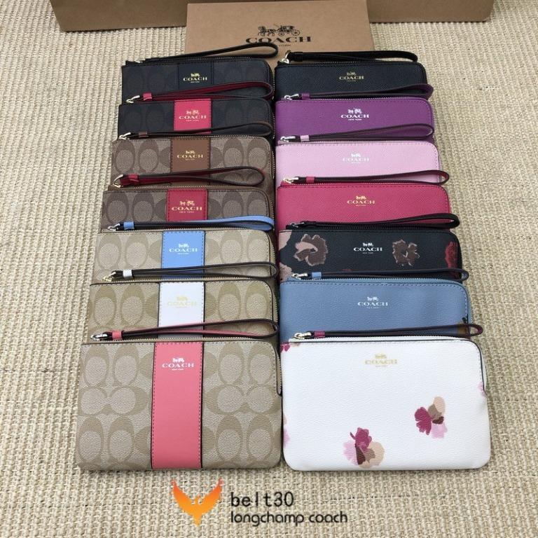 24-hour shipping Classic coach coin purse F58035 Long zip wallet Coach Fashion classic wrist bag Girls clutch Lightweight compact zipper bag