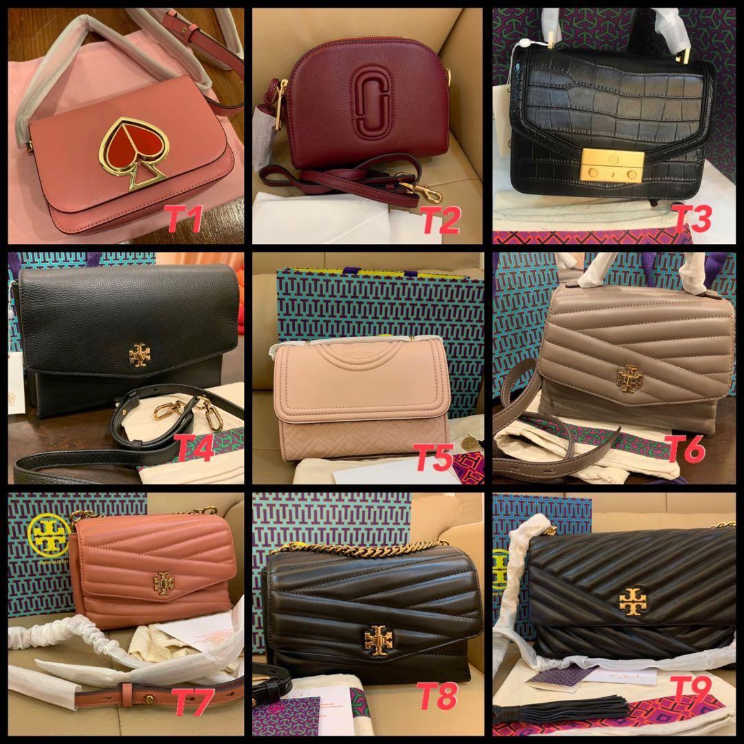 (28/03/20)Ready Stock authentic Tory Burch women bag Marc Jacobs crossbody sling bag purse clutch wallet Kate spade backpack coach belt bag Wrislet card holder lanyard