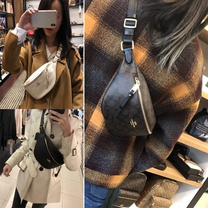 COACH 48738 48740 Waist Bag Leather Bag Chest Bag Crossbody Bag Adjustable Shoulder Strap Crossbody Bag Women Bag Side Bag Shoulder Bag Can Hold Long Clip