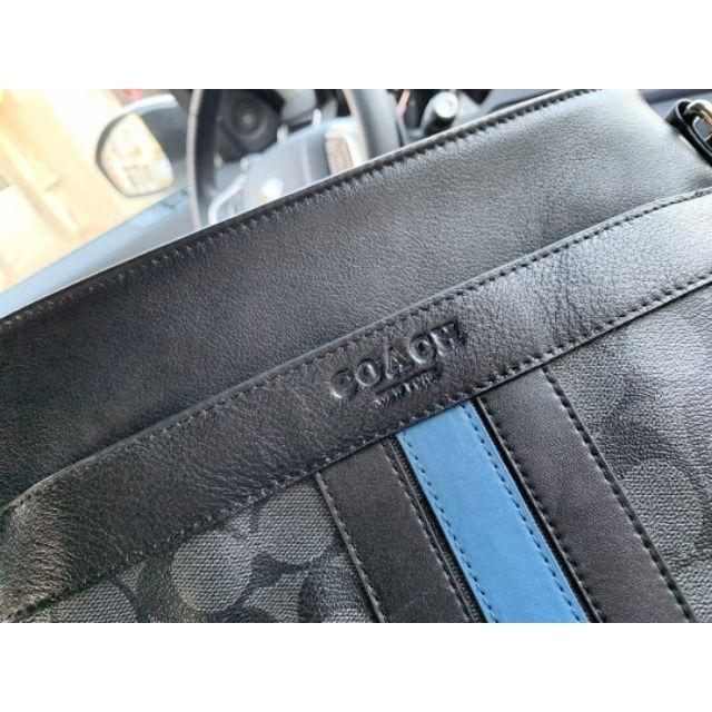 coach /  Chi pilot box bag fashion leather crossbody men's casual zipper shoulder bag casual bag flat bag p13037
