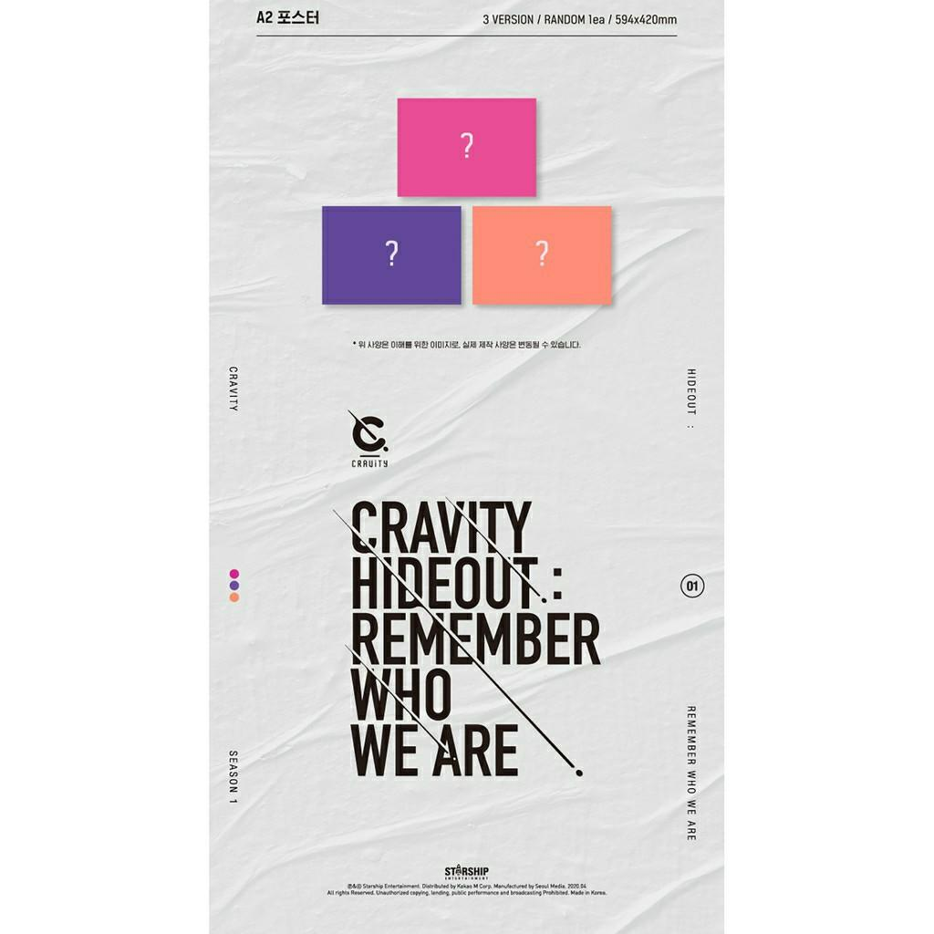 (FREE POSTAGE) CRAVITY ALBUM SEASON1. HIDEOUT: REMEMBER WHO WE ARE