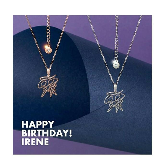 (FREE POSTAGE) RED VELVET IRENE HAPPY BIRTHDAY NECKLACE