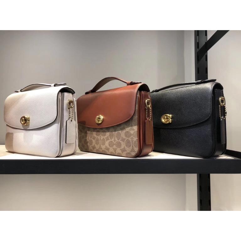 Genuine COACH / 68349 68348 Ladies Vintage Litchi Pattern Leather One Shoulder Crossbody Bag Full Leather Women's Handbag Shoulder Bag With Certificate