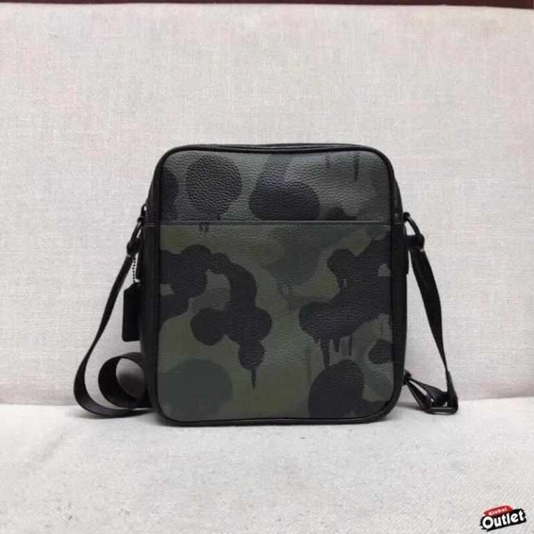 [Global Buy.COM /] COACH 59424  Chi new camouflage side shoulder bag crossbody classic fashion American online shopping