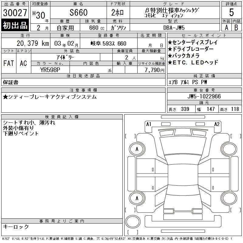 Honda S660 HASHTAG KOMOREBI EDITION Auto