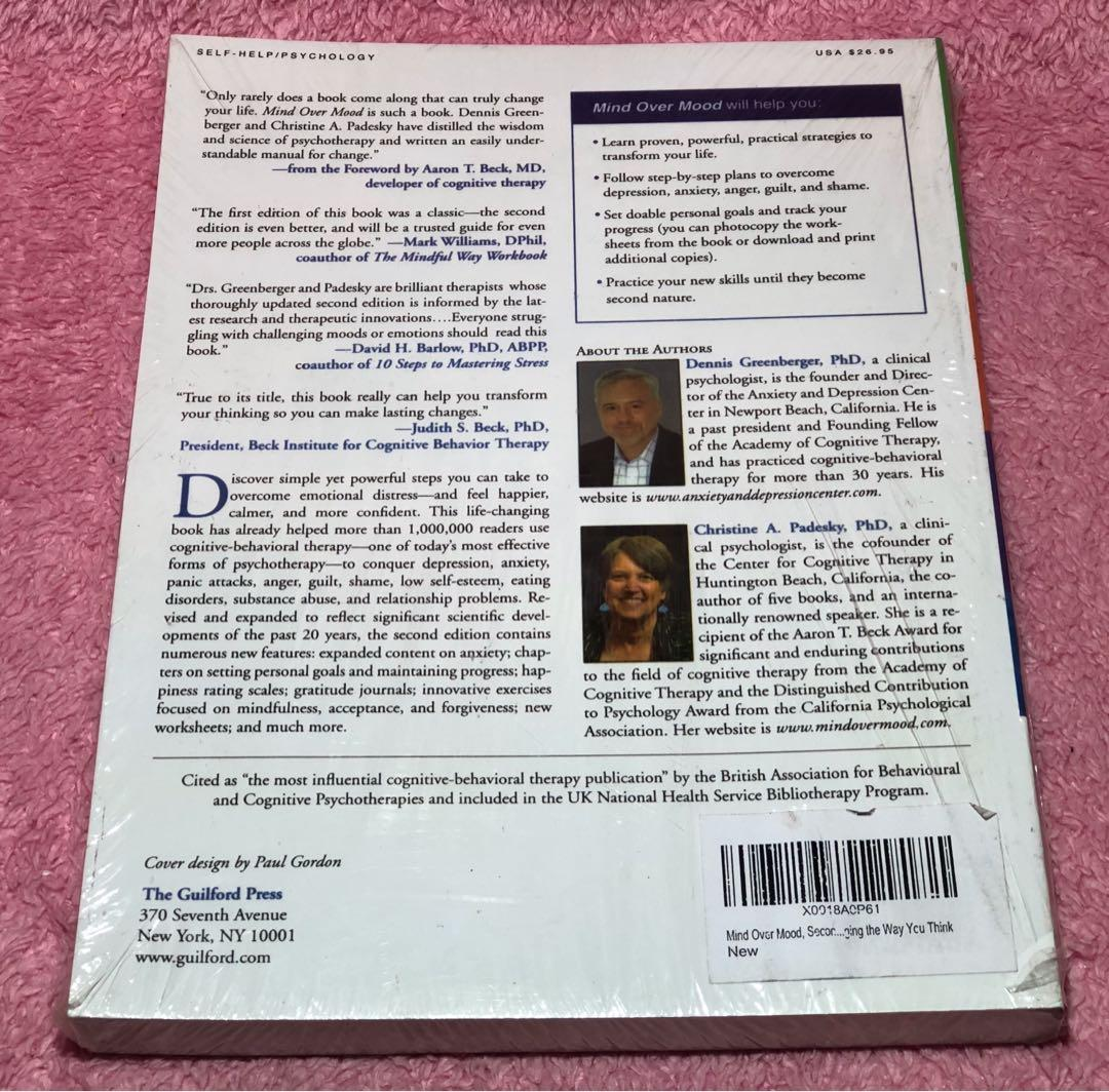 Mind Over Mood Second Edition Dennis Greenberger,PhD/Christine A. Padesky,PhD Price: 650 Item 00320