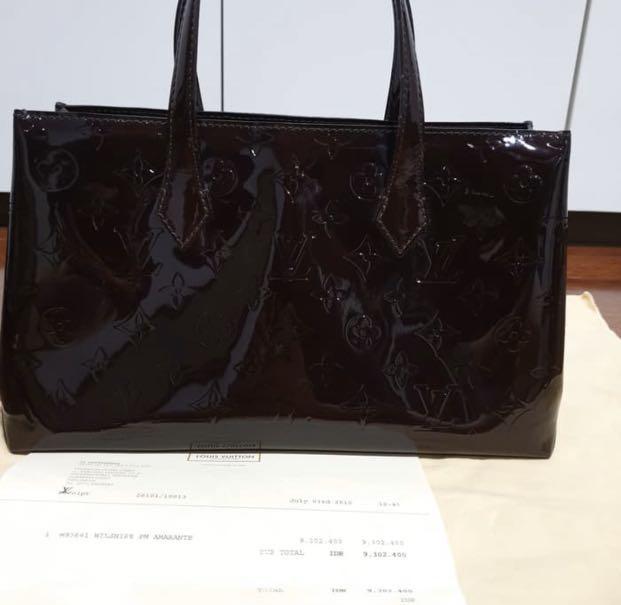 preloved louis vuitton wilshire amarante lv bag authentic / tas original preloved