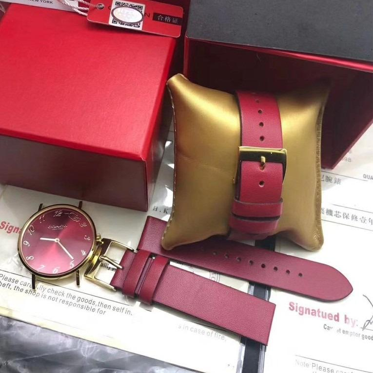 Purchasing counter genuine COACH PERRY series belt stone Yingying watch female models, paired with the Chinese zodiac digital dial simple and pretty 30 meters life waterproof