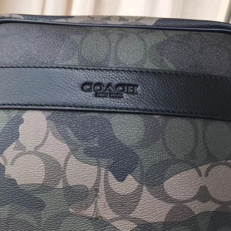 Qian Qian United States purchasing COACH Kou Chi 59913  Chi new camouflage side shoulder bag crossbody classic fashion American purchasing