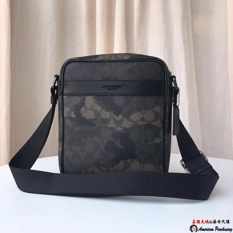 United States aunt purchasing COACH 59913  Chi new camouflage side shoulder bag crossbody classic fashion United States purchasing
