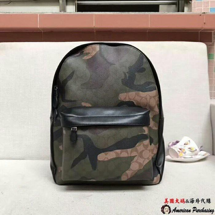 United States aunt purchasing COACH 59914 Gallop new camouflage large capacity backpack backpack classic fashion United States purchasing