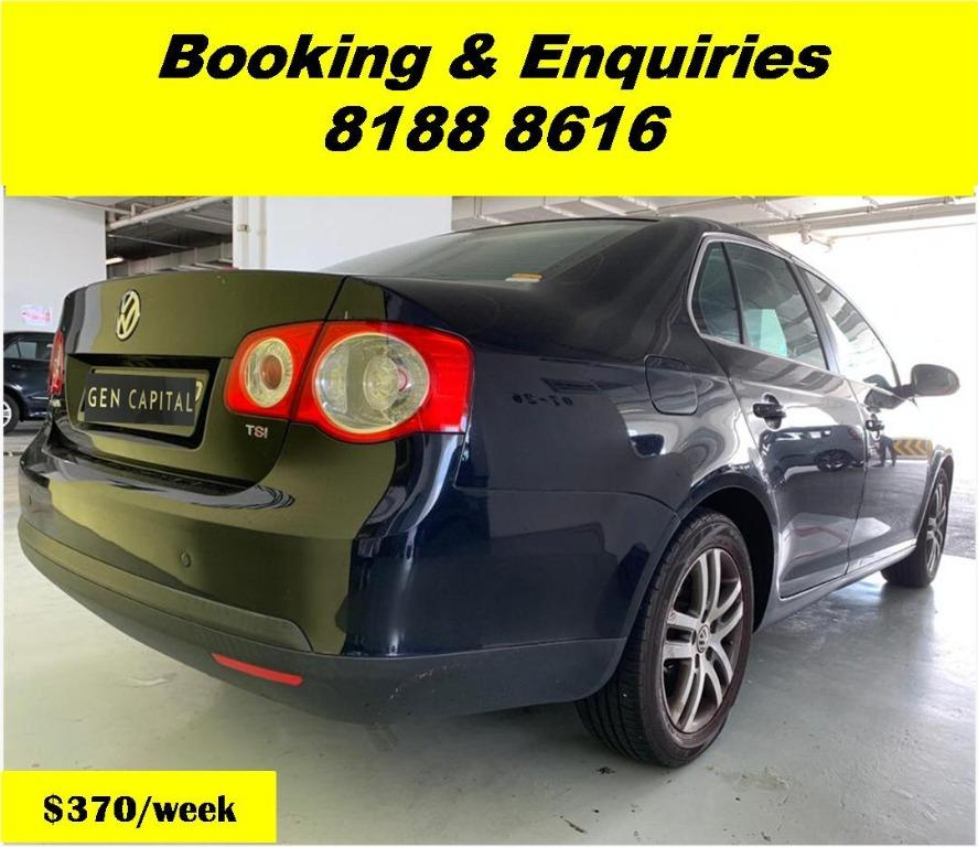 VW Jetta HAPPY SATURDAY~ Lalamove/Grabfood/Parcel Delivery Ready! Cheapest rental in town with just $500 Deposit driveoff immediately.  Whatsapp 8188 8616 now to enjoy special rates!!
