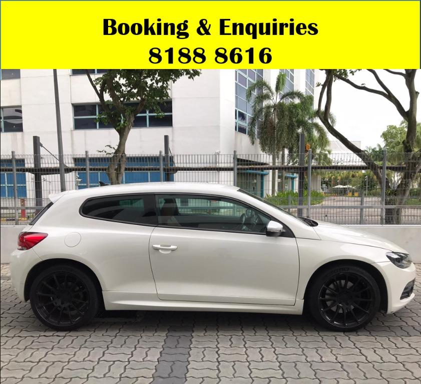 VW Scirocco HAPPY WEEKEND~ SOCIAL DISTANCING? Rent a car now to travel with a peace of mind! Cheapest rental in town with just $500 Deposit driveoff immediately.  Whatsapp 8188 8616 now to enjoy special rates!!