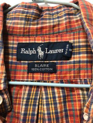 Ralph Lauren 復古格紋襯衫