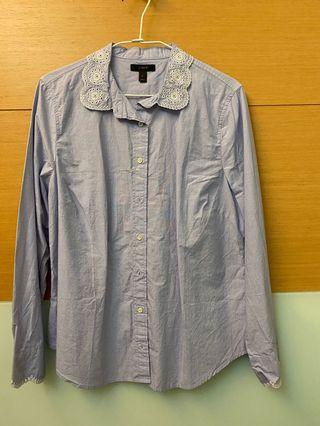 J.crew 藍色細節襯衫