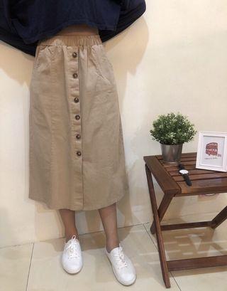 🚚24H 卡其A字裙/女生裙子