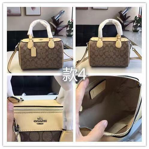 COACH F58312 Handbag PVC Patch Leather Pillow Bag Tote Bag Side Backpack Shoulder Bag Crossbody Bag Women's Bag Boutique Bag Classic Wild Attached Purchase Certificate