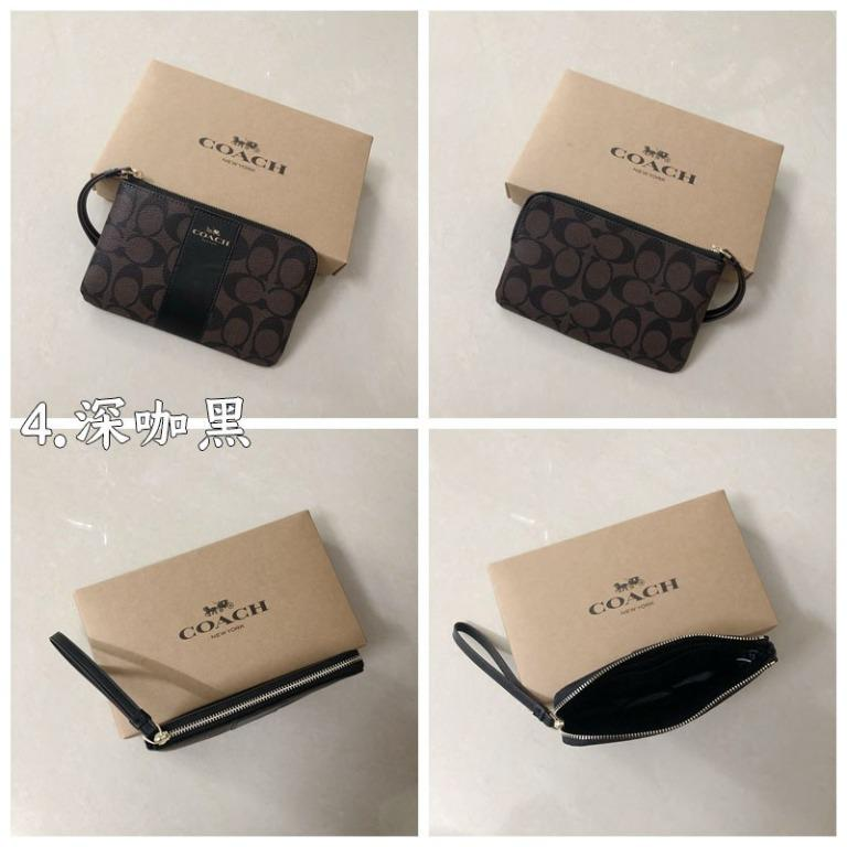Limited time to buy coach classic F58035 coin purse simple and versatile multicolor long wallet zipper clutch classic ladies bag PVC scratch-resistant material