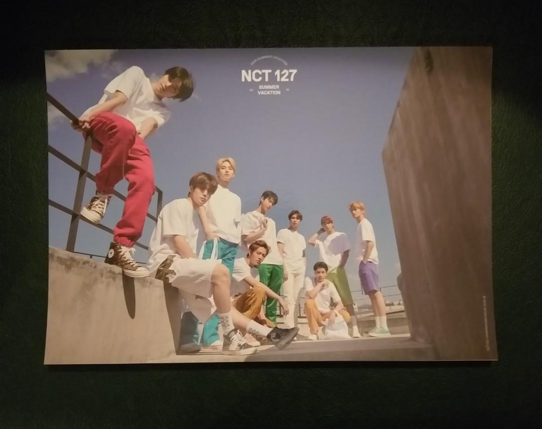 NCT 127 2019  Summer Vacation A4 Poster Set (12 pcs)