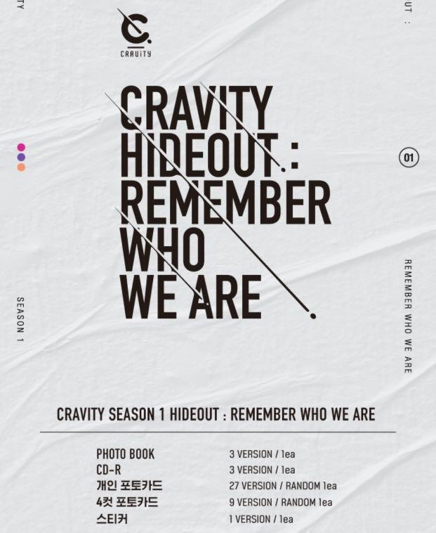 [PREORDER] CRAVITY - Hideout : Remember Who We Are Album