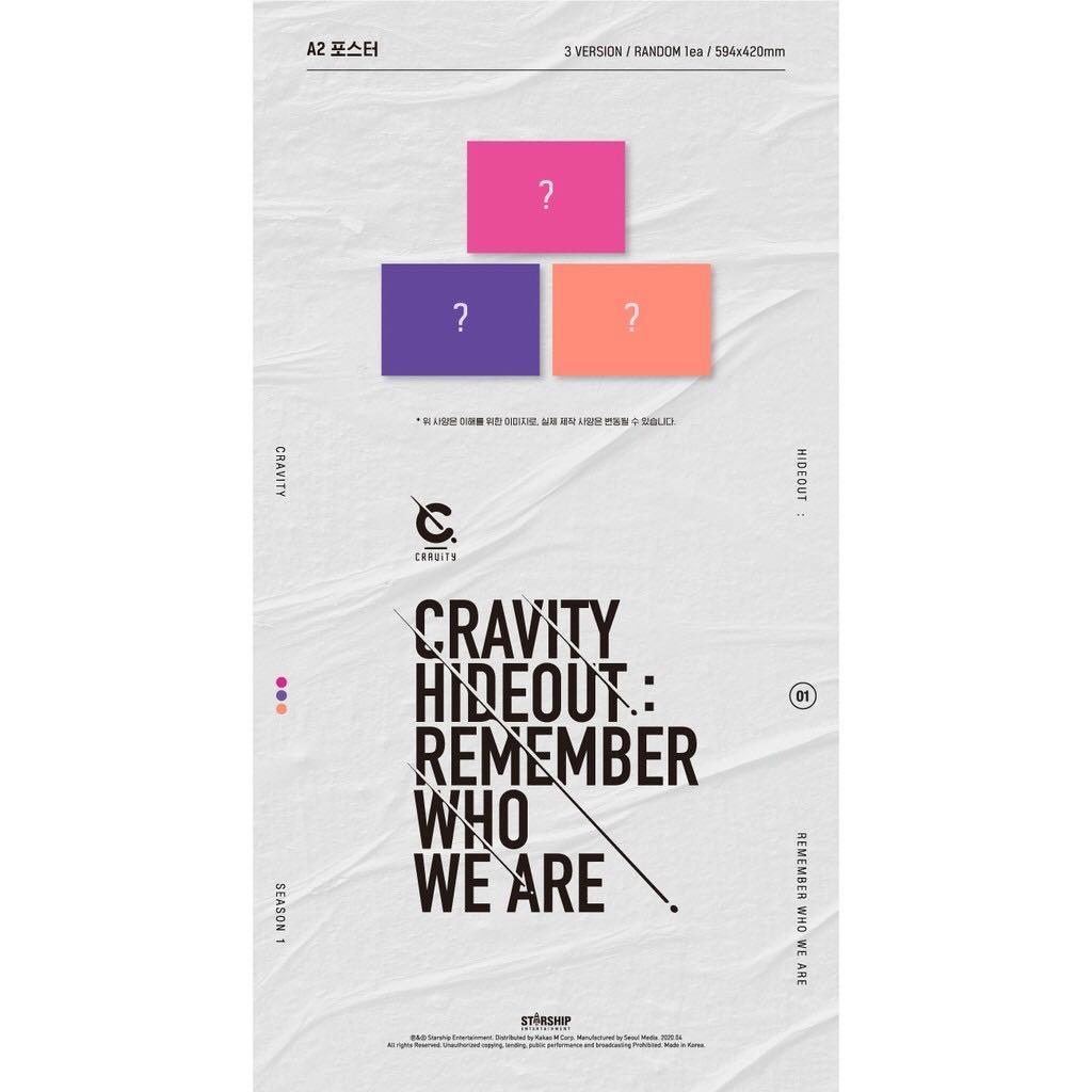 +STARSHIP BENEFIT) CRAVITY SEASON1. [HIDEOUT: REMEMBER WHO WE ARE] (All Package + Preorder Benefit + Poster)