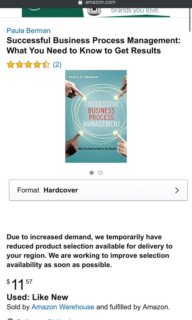 Successful Business Process Management Paula K. Berman New, Hardbound Price: 450 Item 00325