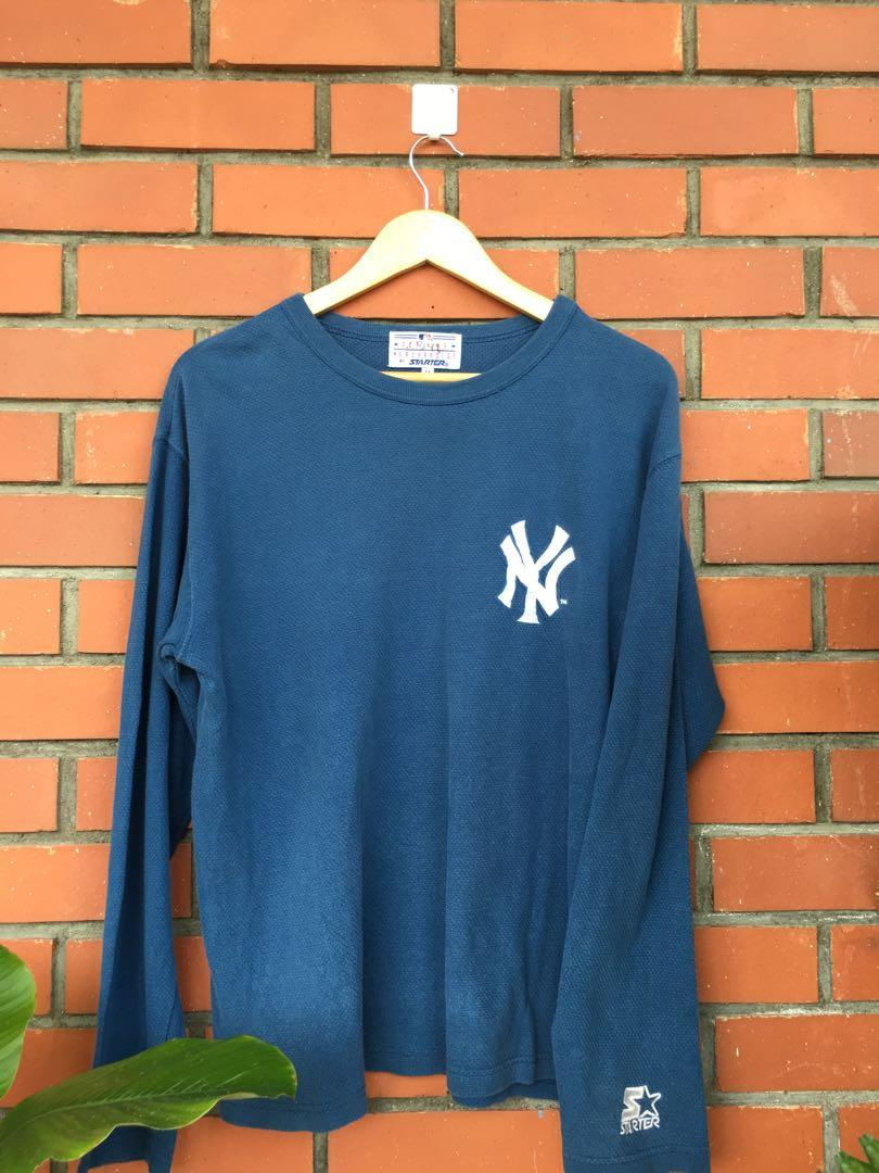 Vtg New York Yankees Mlb Official Merchandise L S Tee Men S Fashion Clothes Tops On Carousell