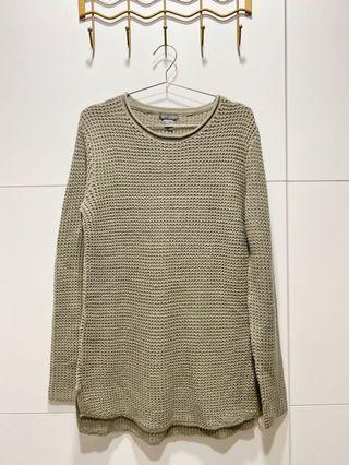 H&M灰色長版毛衣/男女可穿