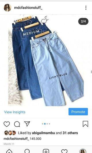 jeans kulot size 27