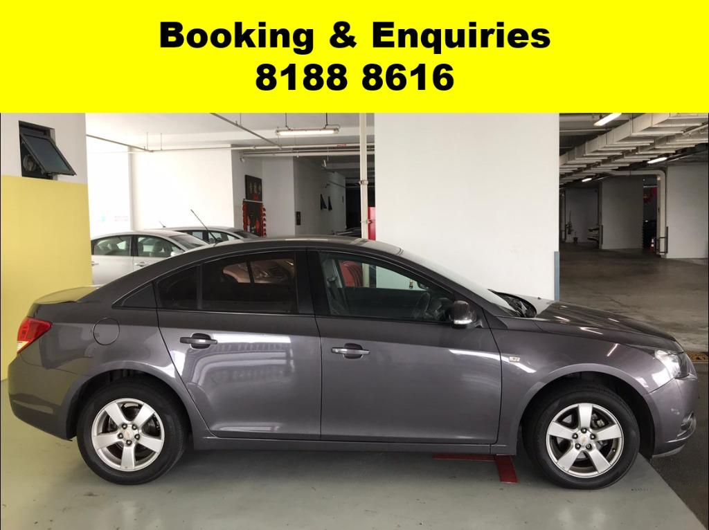 Chevrolet Cruze SOCIAL DISTANCING??  Rent a car now to travel with a peace of mind! Cheapest rental in town with just $500 Deposit driveoff immediately.  Superb condition, Fuel efficient & Spacious! Whatsapp 8188 8616 now to enjoy special rates!!