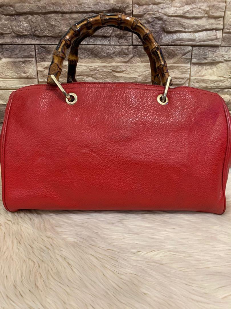 Gucci bamboo series authentic, full leather, mewah, lux, 36 x 20 x 16 cm, kondisi 85% OK, dalam bersih cakep, bag only!murah sangat
