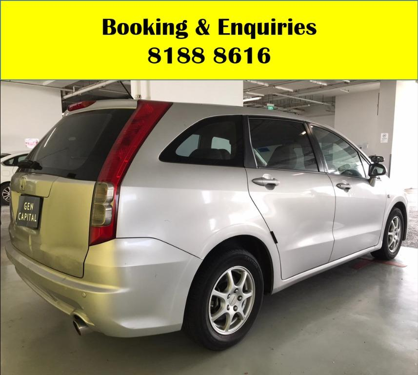 Honda Stream HAPPY MONDAY!! JUST IN!! Fuel efficeint, spacious & well maintained! FREE Petrol Voucher & FREE rental for new contract signup! Just $500 Deposit driveaway immediately! Whatsapp 8188 8616 now to enjoy special rates!!