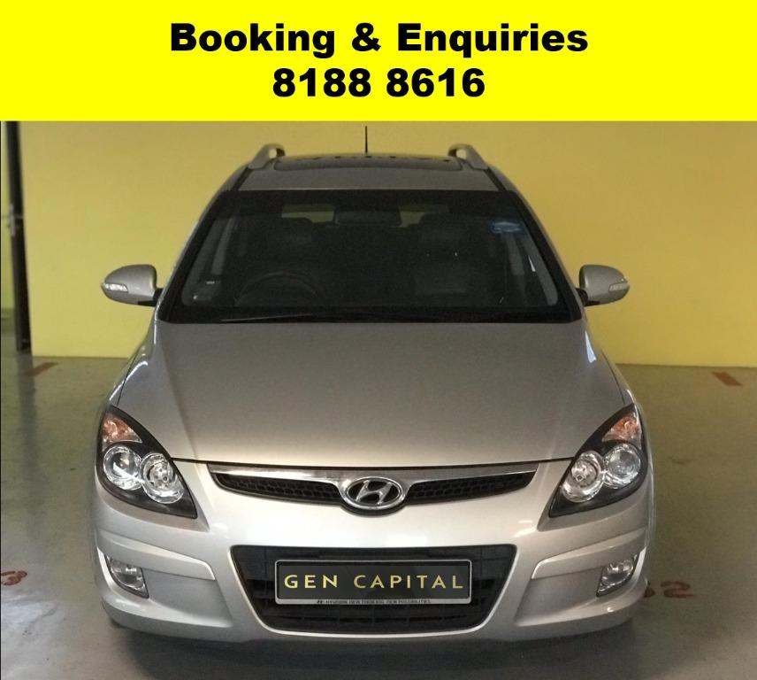 Hyundai i30CW HAPPY MONDAY!! JUST IN!! Fuel efficeint, spacious & well maintained! FREE Petrol Voucher & FREE rental for new contract signup! Just $500 Deposit driveaway immediately! Whatsapp 8188 8616 now to enjoy special rates!!