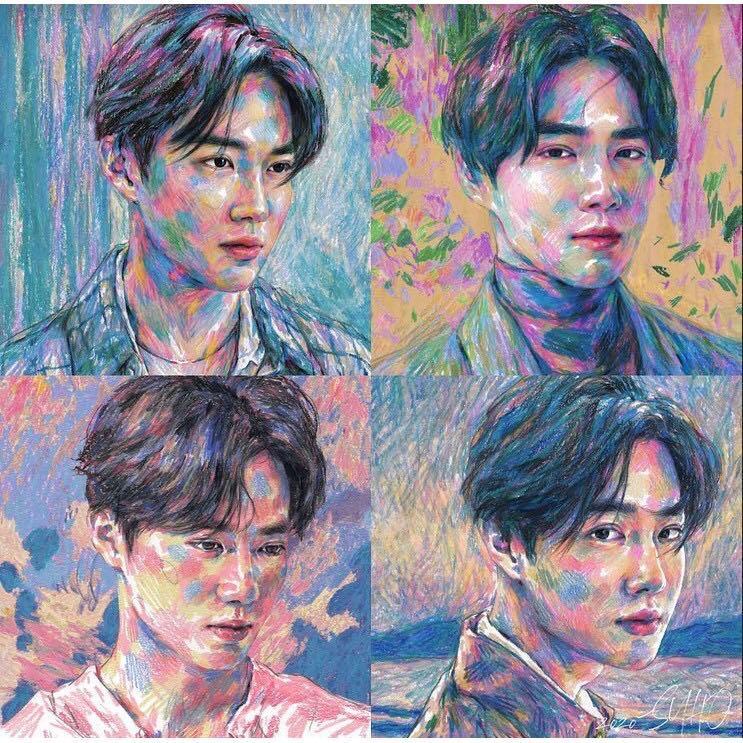 [KIHNO]  EXO SUHO 1ST MINI ALBUM Self-Portrait  (+All Package+Preorder Poster)