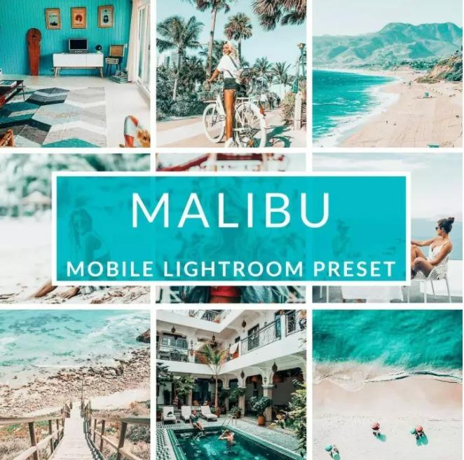 Malibu - Mobile Lightroom Presets for Andriod & iOs (Good for Blogger, Adventure, Portrait, Food and many more...)