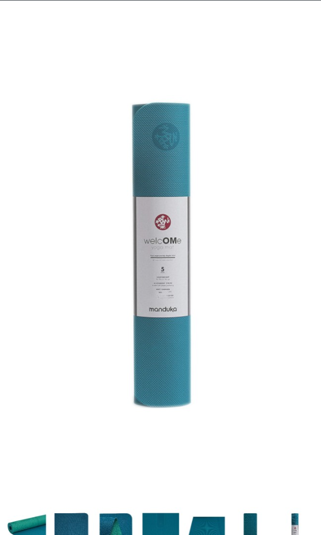 Lightweight with Dense Cushioning for Support and Stability in Yoga and Pilates Premium 5mm Thick Yoga Mat with Alignment Stripe Manduka Begin Yoga Mat Reversible