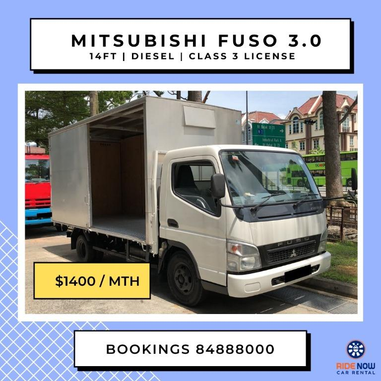Mitsubishi Fuso With Box (Class 3 Licence) for Rental ( Short term or Long term)