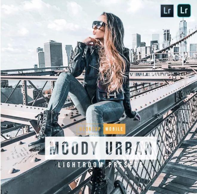 Moody Urban Lightroom Presets for Desktop & Movile (best for bloggers, travelers, outdoor, & portraits)