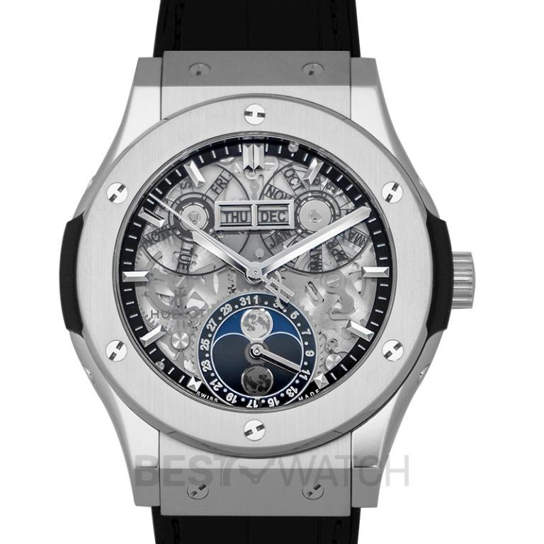 [NEW] Hublot Classic Fusion Aerofusion Moonphase Titanium Automatic Skeleton Dial Men's Watch 547.NX.0170.LR