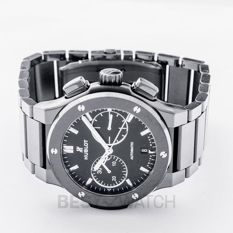 [NEW] Hublot Classic Fusion Chronograph Black Magic Bracelet Automatic Black Dial Ceramic Men's Watch 520.CM.1170.CM