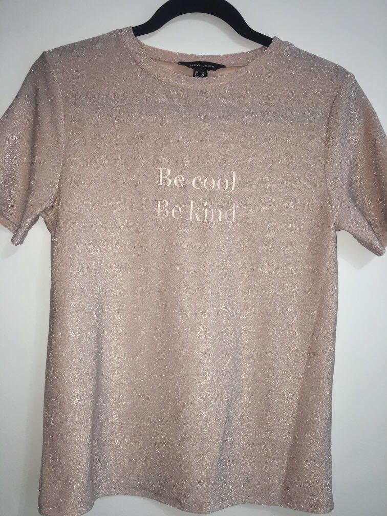 New Look, Sparkle pink shirt                                       Size: US (4) UK (8)