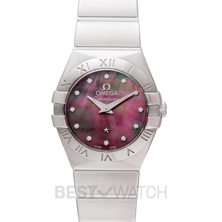 [NEW] Omega Constellation Quartz 24mm Quartz Mother Of Pearl Dial Diamonds Ladies Watch 123.10.24.60.57.003