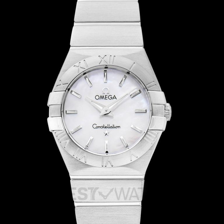 [NEW] Omega Constellation Quartz 27 mm Quartz White Mother Of Pearl Dial Steel Ladies Watch 123.10.27.60.05.001