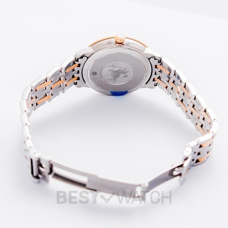[NEW] Omega De Ville Prestige Butterfly Quartz 32.7mm Quartz Silver Dial Diamonds Red Gold Ladies Watch 424.20.33.60.52.001