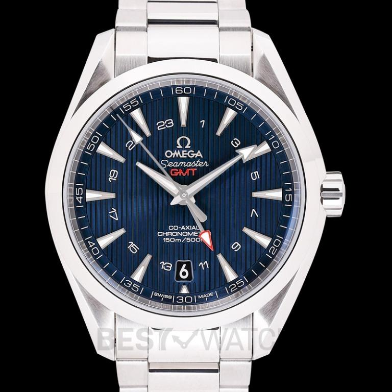 [NEW] Omega Seamaster Aqua Terra 150M Co-Axial GMT 43 mm Automatic Blue Dial Steel Men's Watch 231.10.43.22.03.001