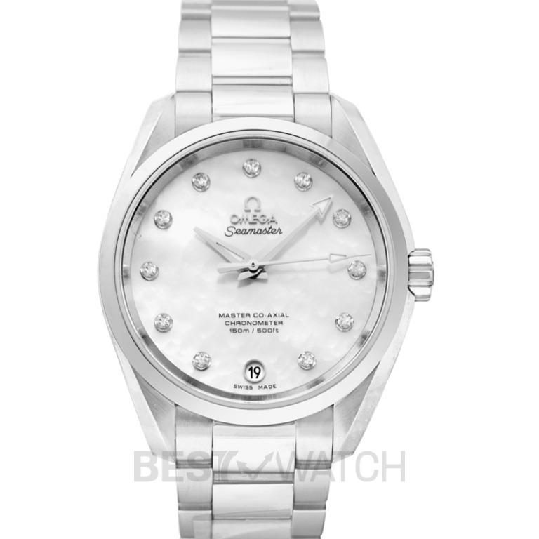 [NEW] Omega Seamaster Aqua Terra 150M Master Co-Axial Ladies' 38.5 mm Automatic White Mother Of Pearl Dial Diamonds Ladies Watch 231.10.39.21.55.002