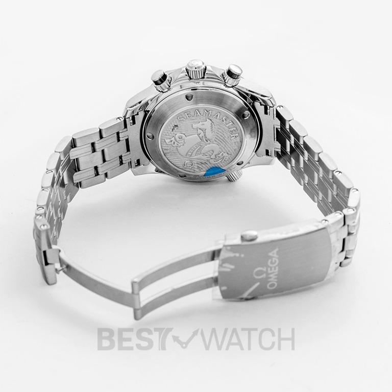 [NEW] Omega Seamaster Diver 300 M Co-Axial Chronograph 41.5mm Automatic Blue Dial Steel Men's Watch 212.30.42.50.03.001